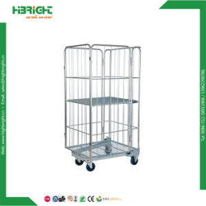 Double Doors Wire Mesh Rolling Container with Security Belt pictures & photos
