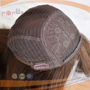 Human Hair Skin Top Dark Brown Topper Half Wig (PPG-l-0979) pictures & photos