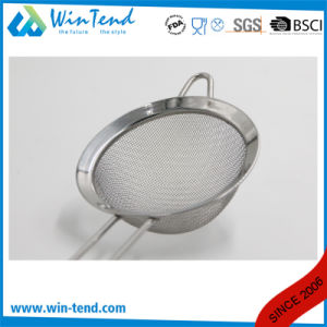 Hot Sale Commercial Stainless Steel Fat Skimmer Strainer Fine Mesh with Wire Handle pictures & photos