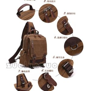 Outdoor Travel Waterproof Teenage Custom Single Should Canvas Bag/Backpack Daypack pictures & photos