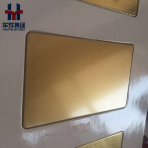 Gold Color 8K Mirror Sand Blasting Stainless Steel Decoration Sheet pictures & photos