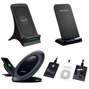 2A Fast Charger Stand Charger Holder Qi Car Mounted Wireless Charger for iPhone 8/8plus/X/Galaxy S8/7/6 Edge Mobile Phone pictures & photos