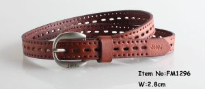 2018 Fashion Womens Leather Belts (FM1296) pictures & photos