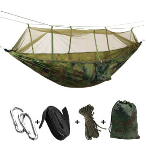 China Supplier Camping Hammock with Mosquito Net 100% Nylon Hammock pictures & photos