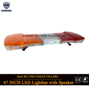 Amber and Red LED Security Lightbar with Speaker Siren (TBD-GA-910LS-C4) pictures & photos