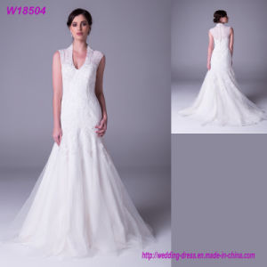 Mermaid Court Train Wedding Dress Fashionable Bridal Gown W18504 pictures & photos