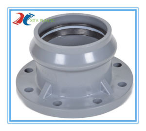 PVC Rubber Ring Elbow 22.5 Degree (F/F) for Water Supply pictures & photos