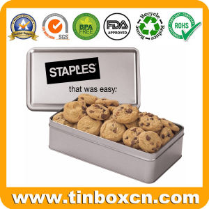 Rectangular Tin Can for Cookie Biscuit, Metal Food Box pictures & photos