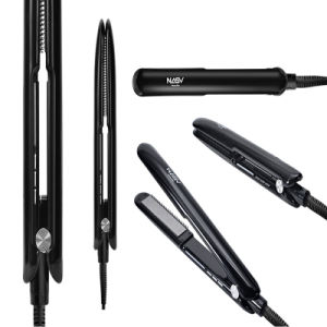 Professional Nasv Automatic Change Temprature LED Hair Iron with Comb pictures & photos