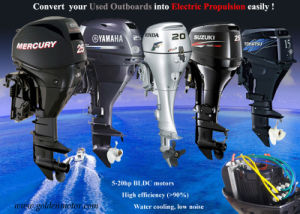 Electric Boat Outboard Motor From 3-50 Horse Power pictures & photos