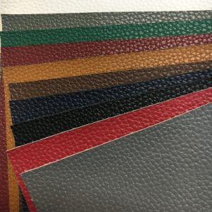 Deep Litchi Grain PU Leather for Sofa, Car Seat, Furniture (HS-D06) pictures & photos