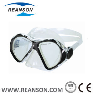 Full Face China Tempered Glass Diving Mask pictures & photos