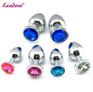 Leadove@ 5PCS/Lot Stainless Crystal Butt Anal Plug 13 Color Jewelry Small Size Butt Plug Anal Sex Toy GS0021 pictures & photos