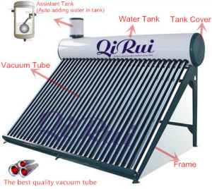 Solar Energy Hot Water Heater with Assistant Tank pictures & photos
