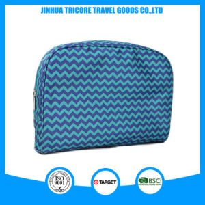 Blue Wave Machine Printed Polyester Cosmetic Bag Big Pouch for Makeup pictures & photos