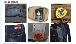 Garment Patch-Rubber Label (KS-RL0125) China Factory Cheap High Quality Rubber Patch Logo Hook & Loop with PVC Patch pictures & photos