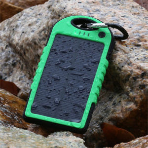 4000mAh Solar Power Bank with LED Lighting Full Capacity Waterproof Phone Battery pictures & photos