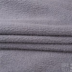 Mixed Wool Fabric with Durable for Autumn Winter in Light Gray