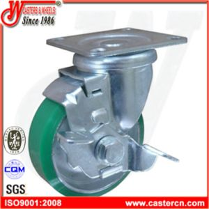 4 Inch Blue PU Swivel Castor Wheel pictures & photos
