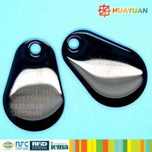 Barcode printing RFID MIFARE Classic 1K Epoxy keychain Key tag pictures & photos