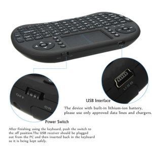 I8 Wireless Mini Keyboard 2.4G Remote Control Fly Mouse pictures & photos