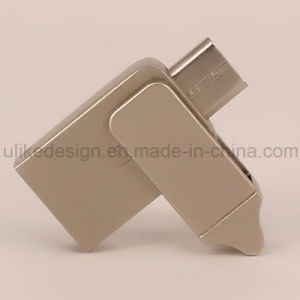 Wholesale Metal Swivel/ Twist OTG USB Flash Drive (UL-OTG005) pictures & photos