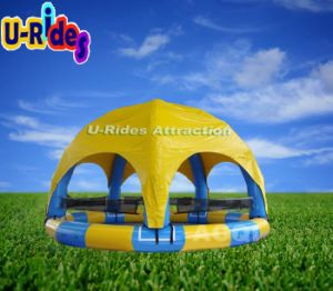 6 Leg Inflatable Swimming Pool with Tent pictures & photos