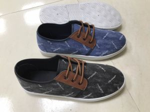 New Fashion Style Navy Jean Fabric Casual Men Canvas Shoes