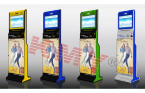 Standalone Lobby Dual-Screen Self Payment Kiosk with Elegent Design pictures & photos