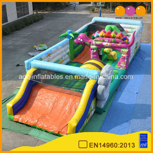 2 in 1 Big Dino Fun City Inflatable Park for Kindergarten Activity (AQ01437) pictures & photos