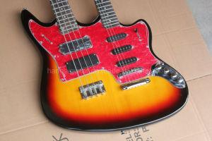 Hanhai Music / Jaguar Style Double Neck Electric Guitar and Bass pictures & photos