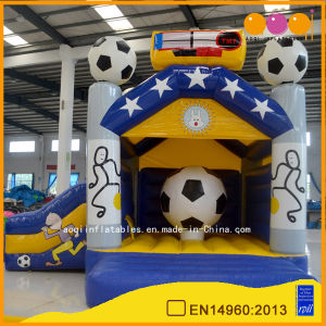 Football Theme Inflatable Jumper for Amusement (AQ627) pictures & photos