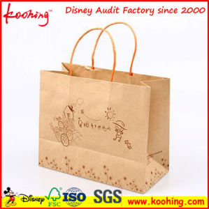 Eco-Friendly Custom Size Food Grade Logo Printable Food Grade Kraft Paper Bakery Bags with Window pictures & photos