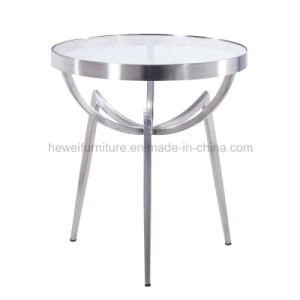Modern Style Metal Coffee Table with Round Shape (7105T)