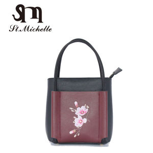 2017 Hot Sale Fashion PU Ladies Handbags with Flower pictures & photos