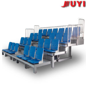 Jy-720s Fire-Resistant with Soft Cushion Automatic Baseball Gymnasium Stadium Bleachers Telescopic Platform Mobile Tribune pictures & photos