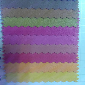 Fashionable Garment PU Synthetic Fabric Leather (HS-GM03) pictures & photos