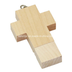 USB Disk Jesus Cross USB Pendrive Wooden USB Flash Drive pictures & photos