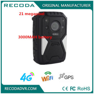 Recoda 1440p Law Enforcement Night Vision Body Worn Camera Support 4G GPS WiFi pictures & photos