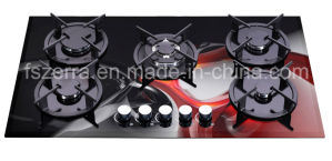 Luxury Tempered Glasss Built in Gas Cooktop Gas Hob Jzg95003dB pictures & photos