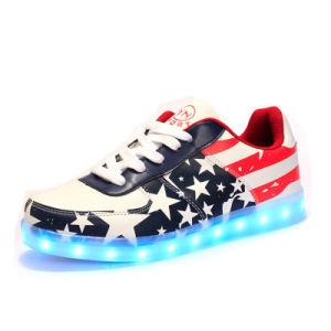 Us Star Casul Men′s/Women′s PU Rechargeable LED Shoes pictures & photos