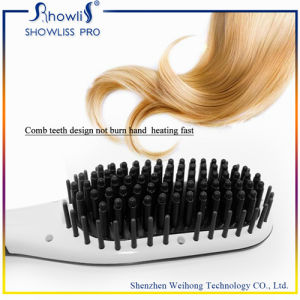 ODM/OEM Beauty Star Hair Straightener Comb Straightening Brush with LCD Display New Product Hot Selling in Us/UK/Asia pictures & photos