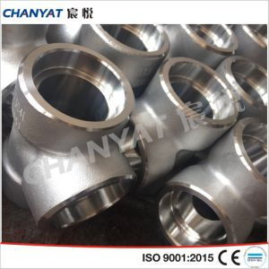 Super Stainless Steel Forged Fitting Tee DIN (1.4301, X5CrNi1810) pictures & photos