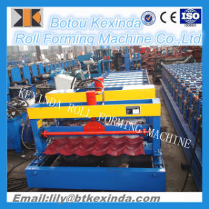 1100 Glazed Tile Roof Panel Roll Forming Machine pictures & photos