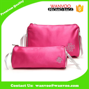 Hot Popular Rose Pink Soft Cosmetic Makeup Bag for Lady pictures & photos