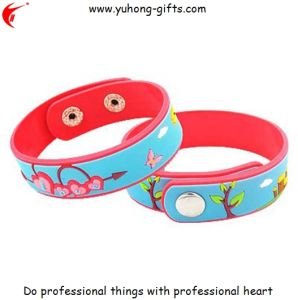Hot Sale! Soft PVC Wristband Bracelet for Promotion (YH-PB004) pictures & photos