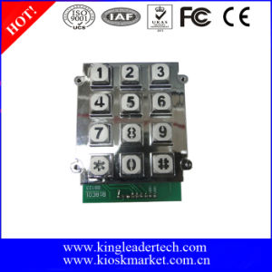Rugged Pin Interface 12 Keys Backlight Keypad for Telephone Use