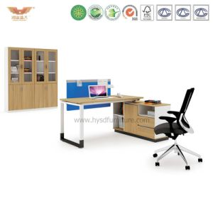 Office Manager Melamine Office Desk with L Shape Return (H90-0203) pictures & photos