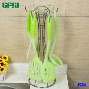 FDA Approval Set of Silicone Cooking Tools Pancake Turner Fish Slice Wok Spatula Serving Spoon pictures & photos