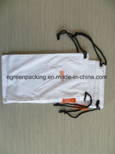 Custom White Microfiber Eyeglasses Pouch with Label pictures & photos